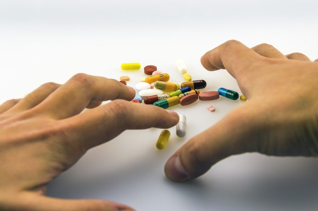 hands, one, medicinal products