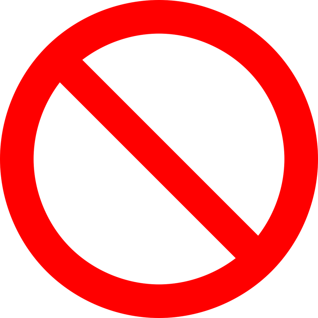 no symbol, prohibition, sign